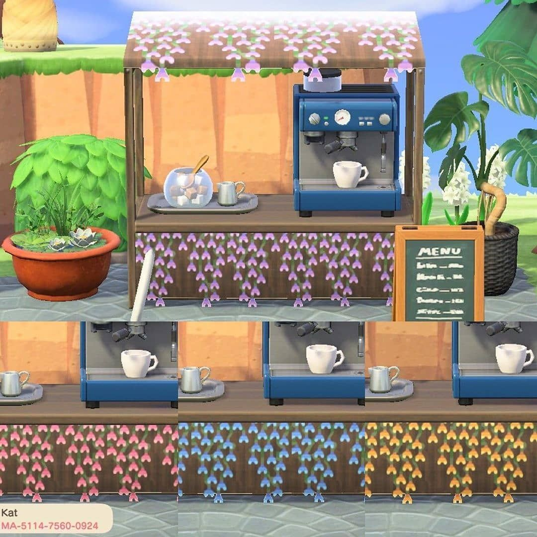 """Animal Crossing ACNH codes on Instagram """"Floral stall"""