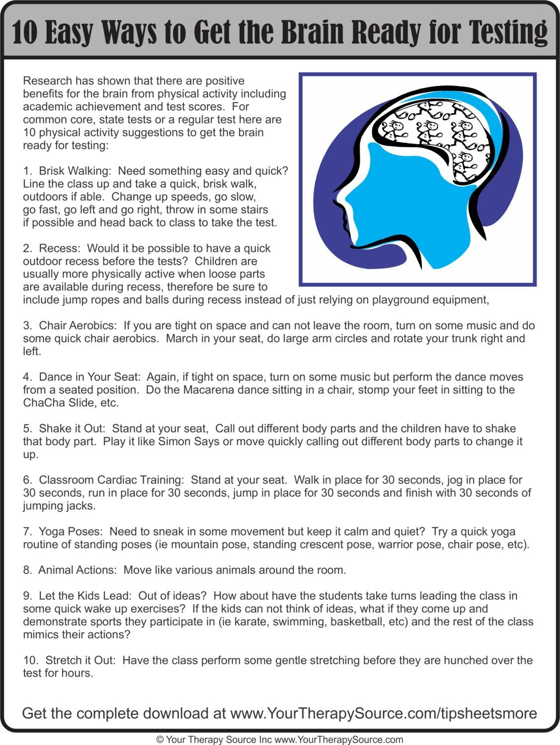10 Ways to Get the Brain Ready for Improved Memory and Concentration. Worth reading the article attached. Good links follow.