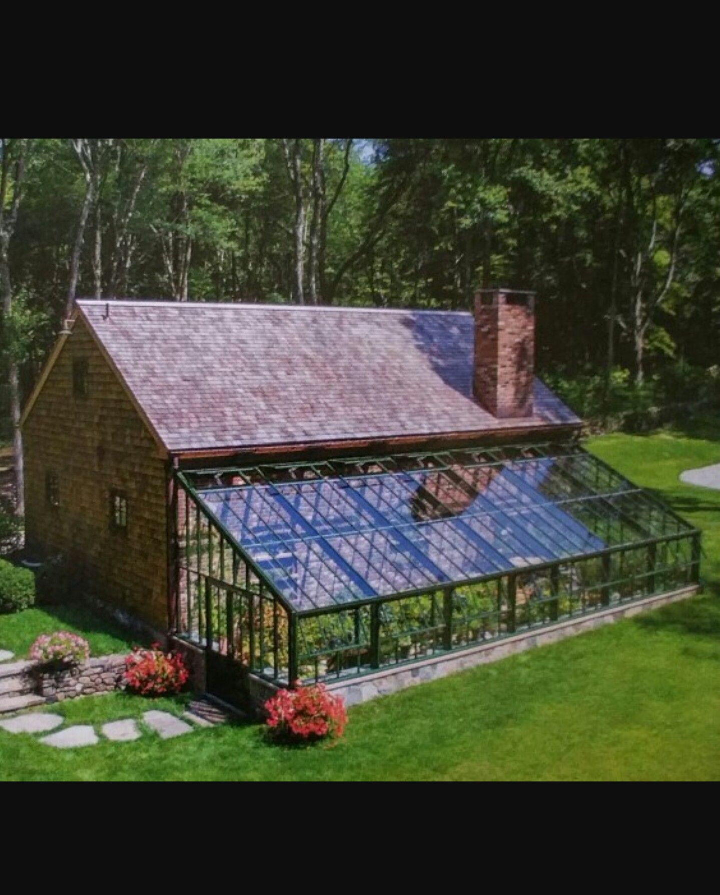 Love The Stone Foundation To This Greenhouse Addition