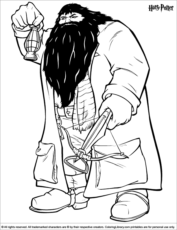 Harry Potter Coloring Page Harry Potter Coloring Pages Pinterest