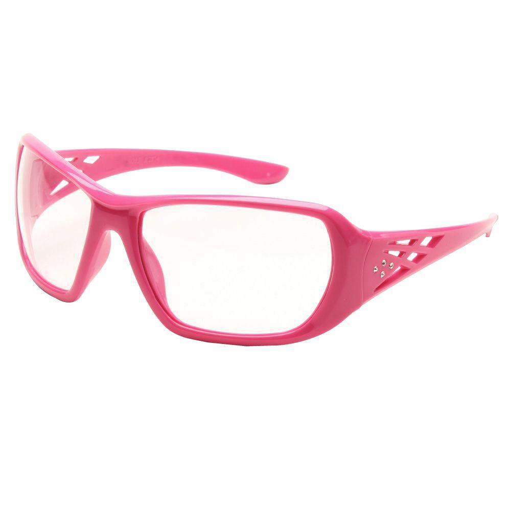 b0005058384 Girl Power At Work Rose Ladies Eye Protection  Meets the requirements of  ANSI Z87.1 impact rated. Decorative rhinestones on temple.