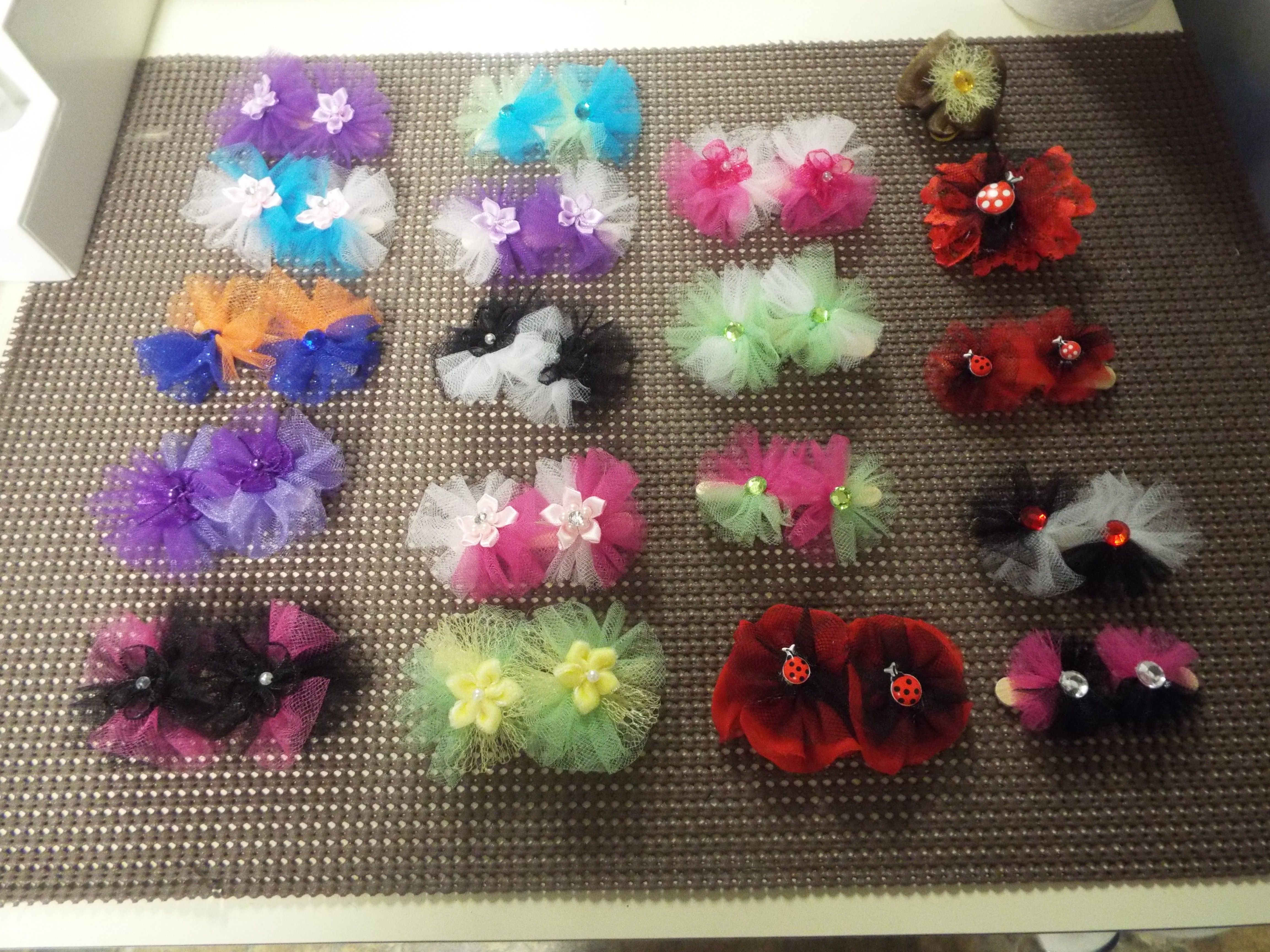 Dog Bow Pairs Dog Ear Bows Hair Friendly Pet Bows Small Dog Bow Pair Bursting To Bloom Snap-In Dog Bows\u00ae Bow PAIR Easy To Use Pet Bows