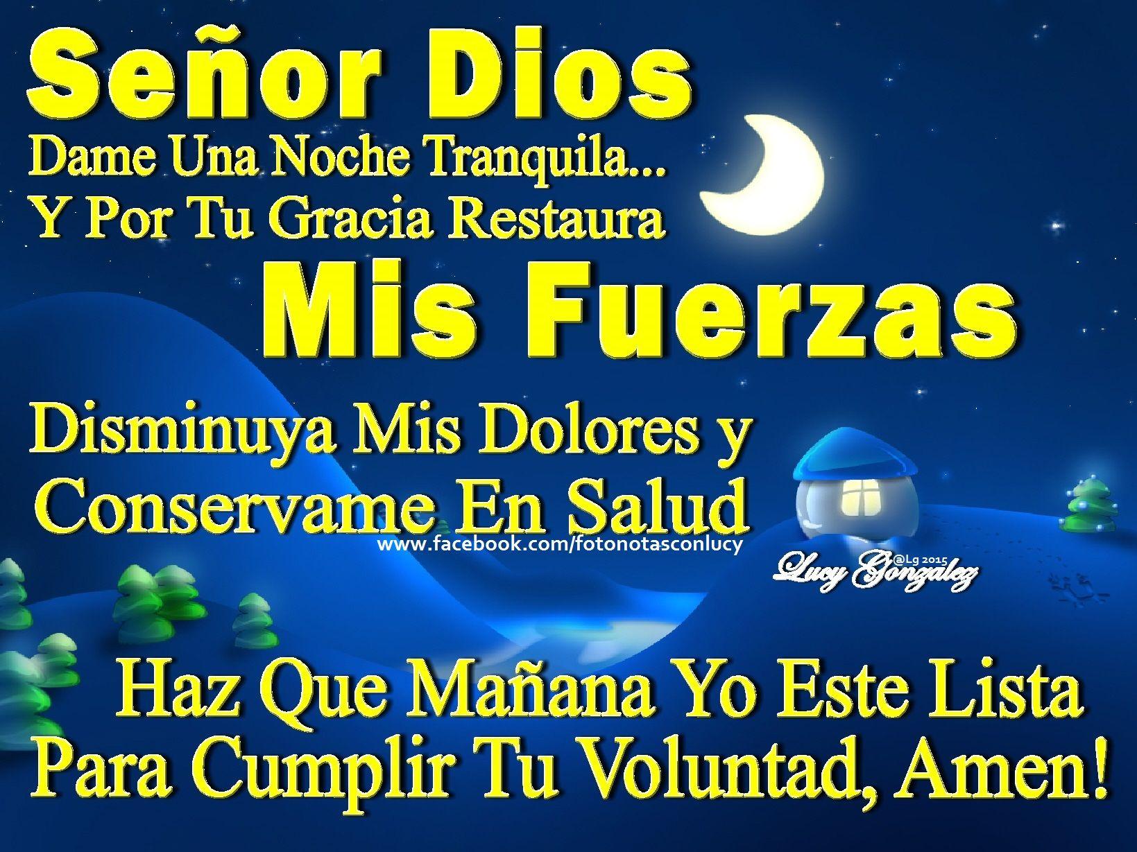 Una oracion de BUENAS NOCHES Deseandoles una feliz y bendecida noche Que descanse que