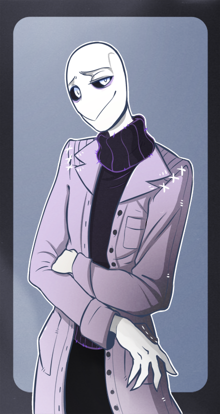 Gaster-Undertale ( my guess is he is papyrus and sans dad