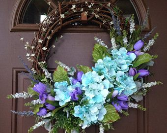 Photo of Items similar to 10% OFF! Summer Wreaths for Front Door, Grapevine Door Wreath, Spring Wreath, Front Door wreath, House Warming Gift, Spring Wreaths on Etsy
