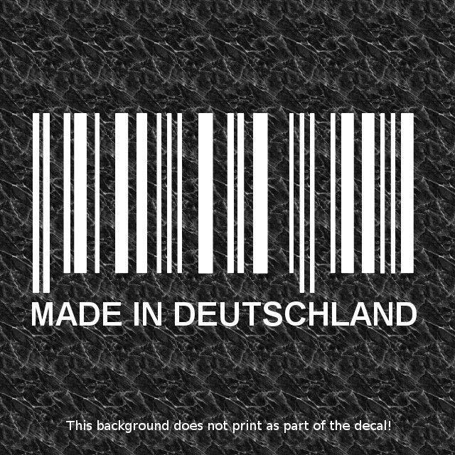 Made In Germany Barcode Decal Sticker German Cars Bavarian Racing - Custom race car window decalsreal women usepedals sticker funny jdm honda girl race car
