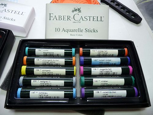 Faber Castell Aquarelle Sticks Arts Crafts Supplies Art