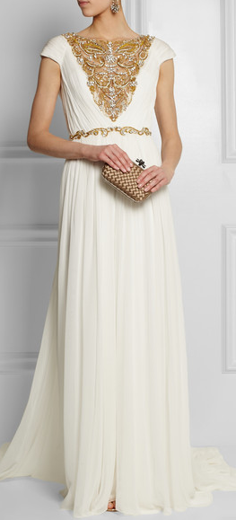 Marchesa @mamills1 is this gold enough? Because this is gorgeous ...
