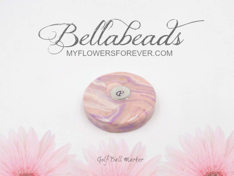 Flower Petal Jewelry, Golf Ball Marker, Pet Memorial, Bereavement Gifts for Men, Sympathy Gifts, Golf Ball Marker with Initial, Hamilton by myflowersforever ...