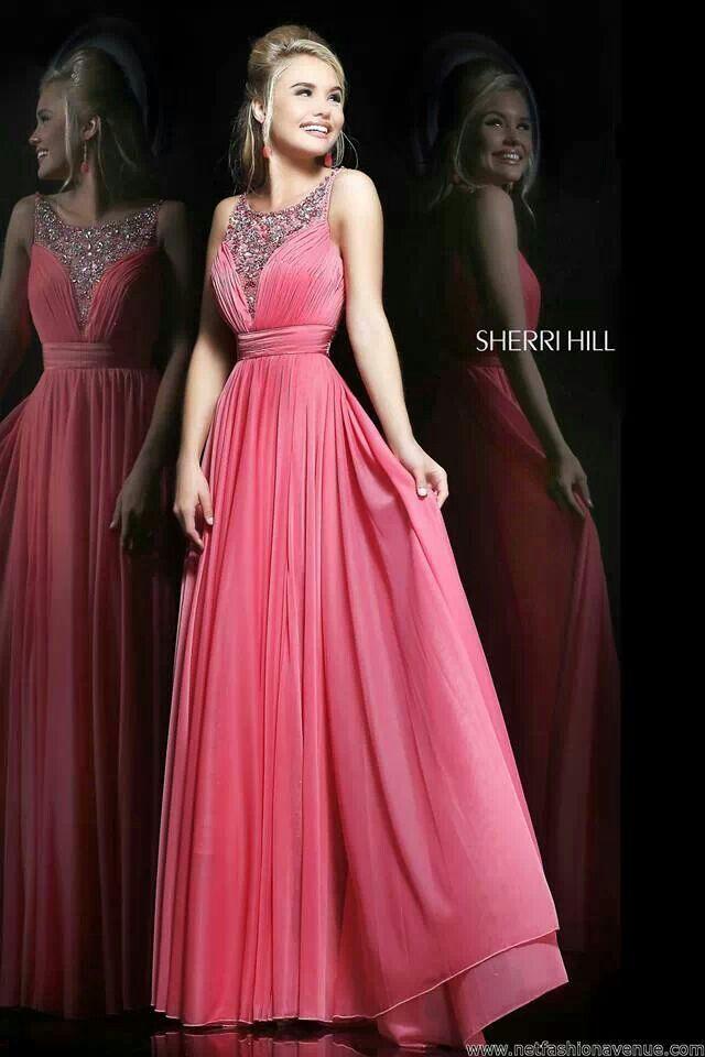 Vestido largo rosa | Spring Pink, Apricot & Lavender Wedding ...