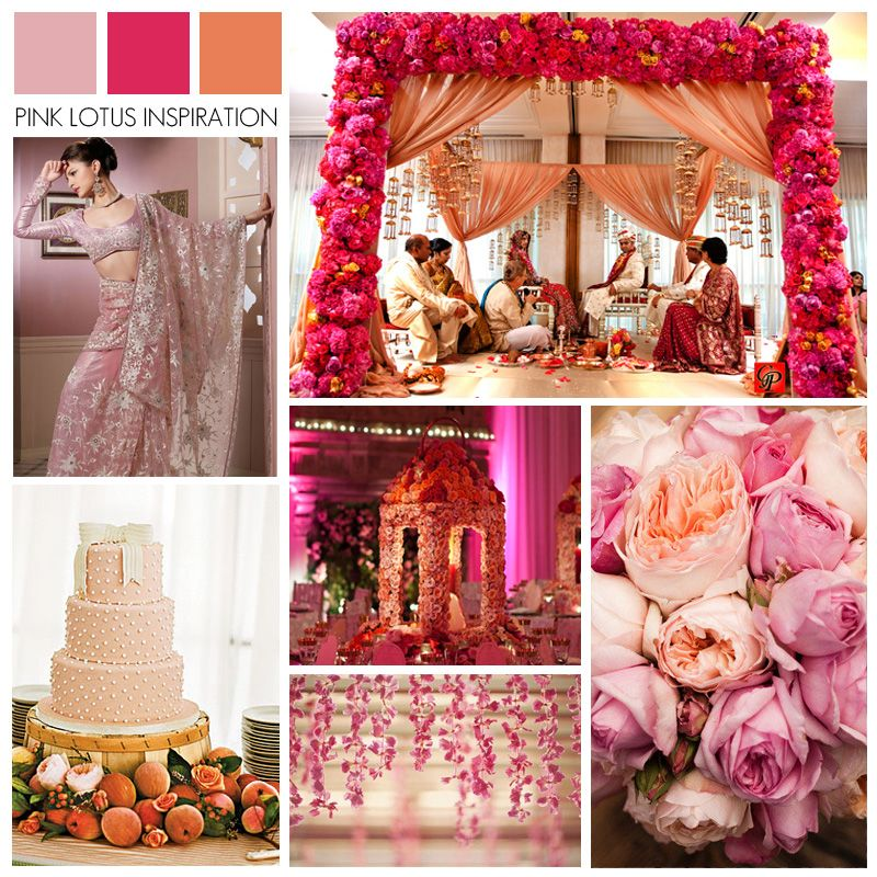 Color Board Pink Magenta And Peach Pink Purple Wedding