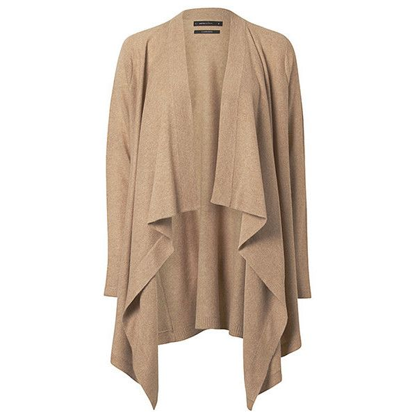 Limited Editions Cashmere Waterfall Cardigan Camel Target ...
