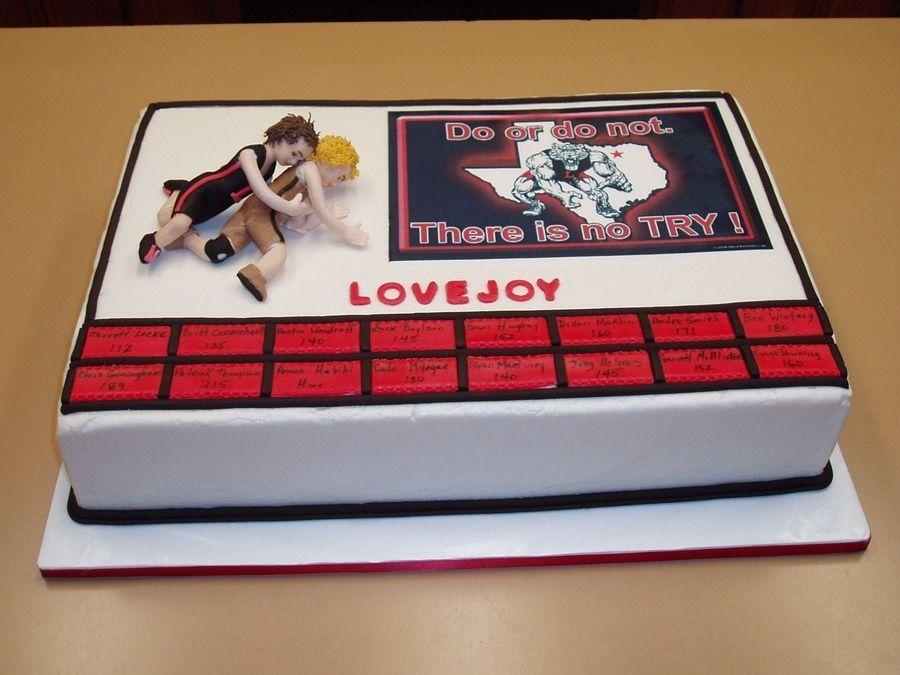High School Wrestling Cake Ideas High School Wrestling