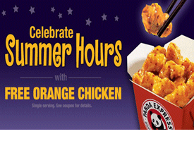 Friday June 21st From 9pm To Close Panda Express Is Giving Away Free Orders Of Their Delicious Orange Chicken Follow The Orange Chicken Panda Express Chicken