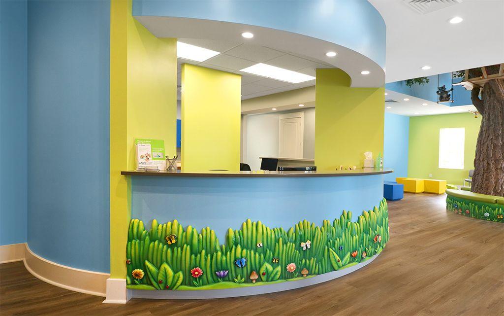 Imagination Dental Solutions In 2020 Reception Desk Imagination Design Studios Custom Reception Desk