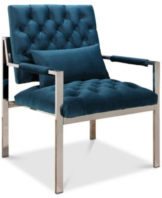 Best Closeout Genny Stainless Steel Accent Chair Quick Ship 400 x 300