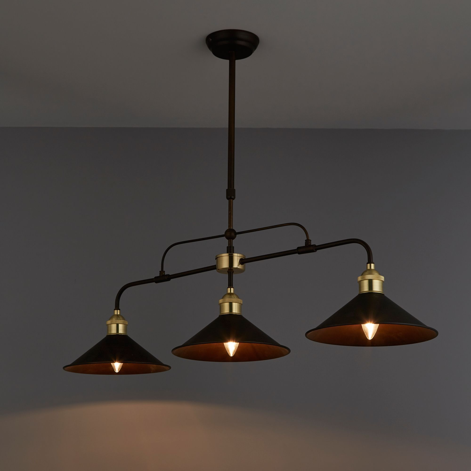 Alfie Bronze Effect 3 Lamp Pendant Ceiling Light Departments Diy At B Amp Q Ceiling Lights Ceiling Lights Diy Ceiling Pendant Lights Bq living room lights