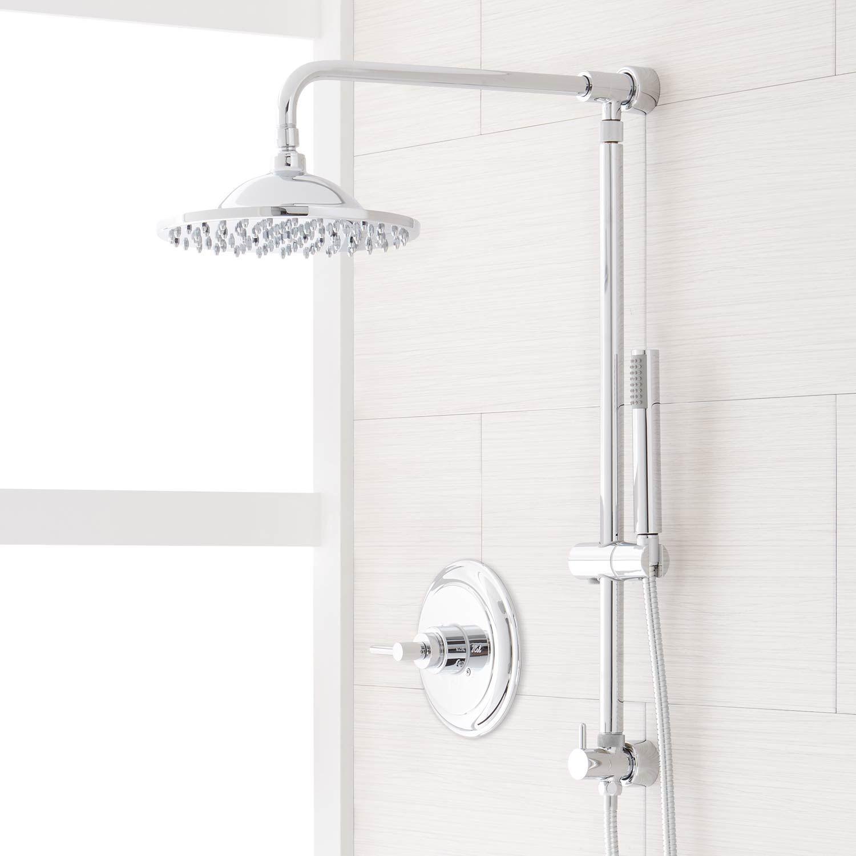 Bostonian Brass Rainfall Nozzle Retrofit Shower System With Hand
