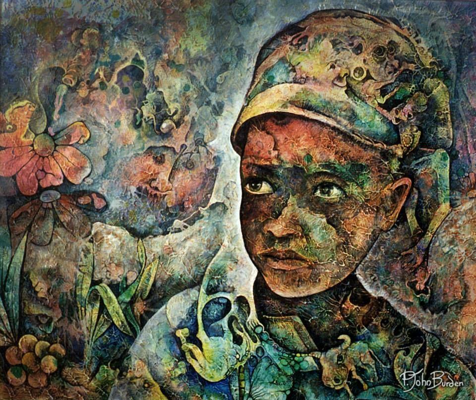 Africa by p john burden canadian painters artist