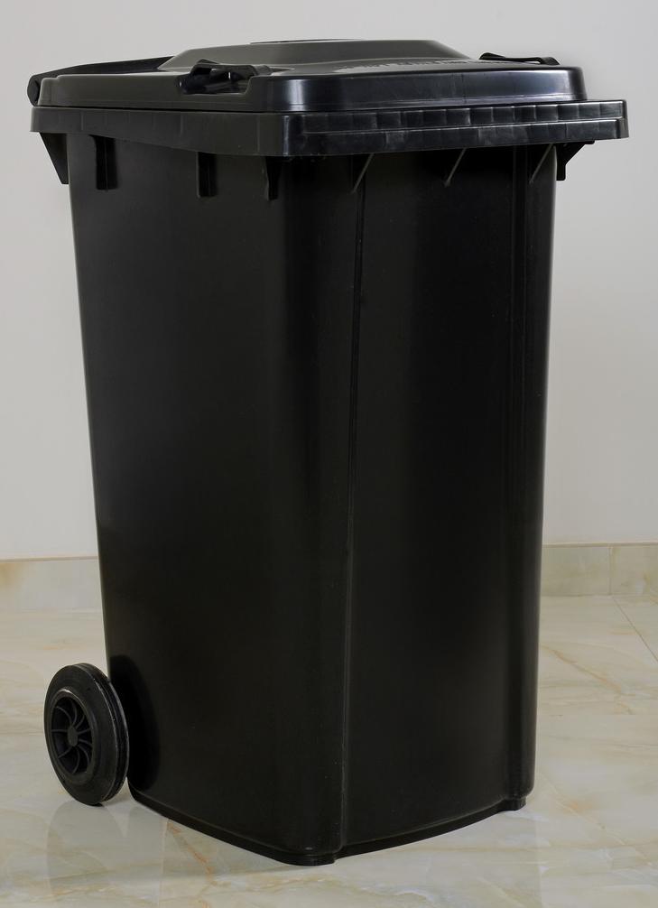 درام نظافة 85 لتر أسود Waste Basket 85 Liter Black Trash Can Plastic Items Tall Trash Can