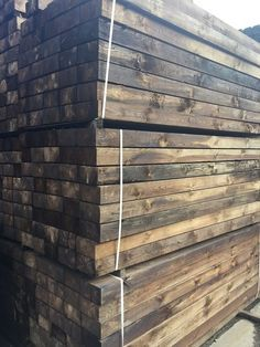 GREAT VALUE RECLAIMED SAWN RAILWAY SLEEPERS EXCLUSIVE TO ...