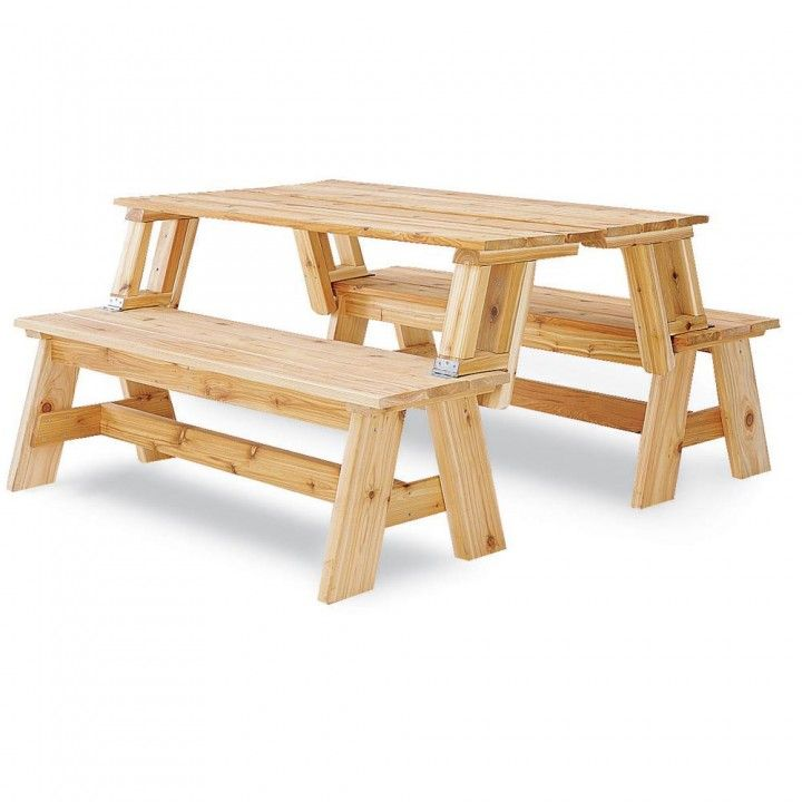 Picnic table bench combo plan picnic tables woodworking tools and woodworking Picnic table that turns into a bench