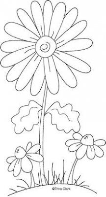Mothers Flowers 2a Country Line Art Pattern