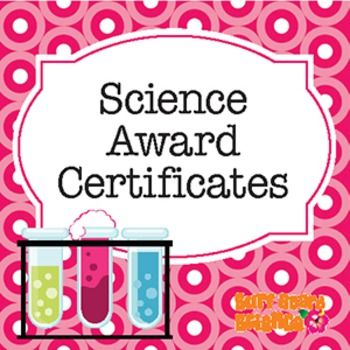 From Surf Board Science! Four adorable science award certificates