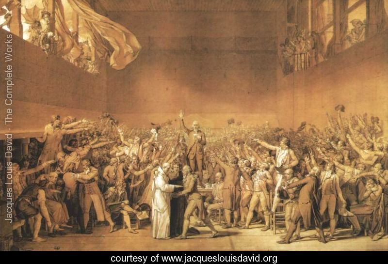 Tennis Court Oath Jacques Louis David A Huge Space Yet Not Empty Filled With People Who Seem Unimportant Be Gallikh Epanastash Ellada Istoria Ths Texnhs