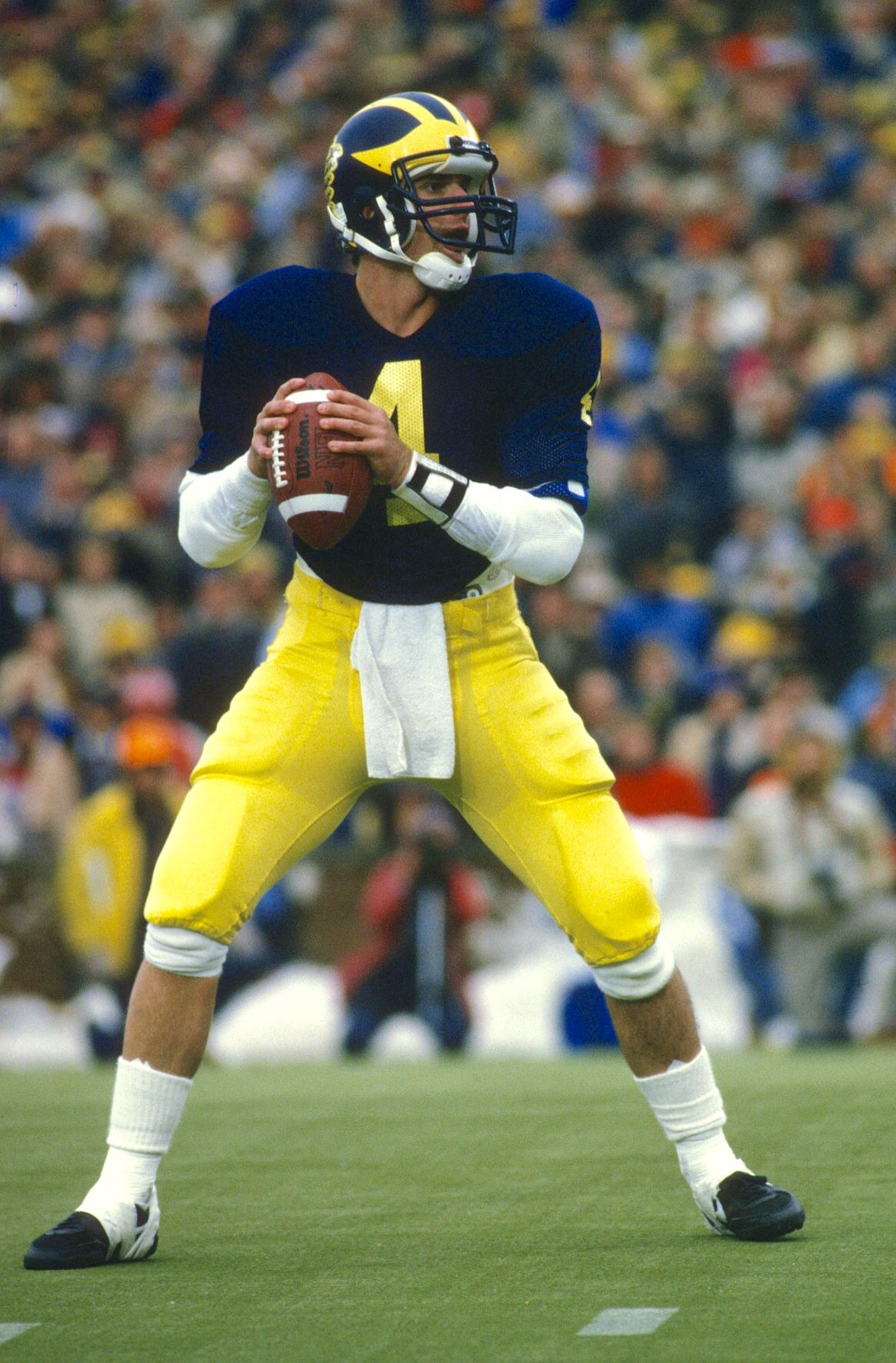 Jim Harbaugh Loved Him As A Qb He Was Great Michigan Wolverines Football Wolverines Football Michigan Sports