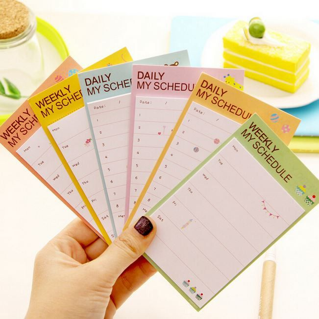 Post-it Schedule Planner Paper Planners, Weekly planner and