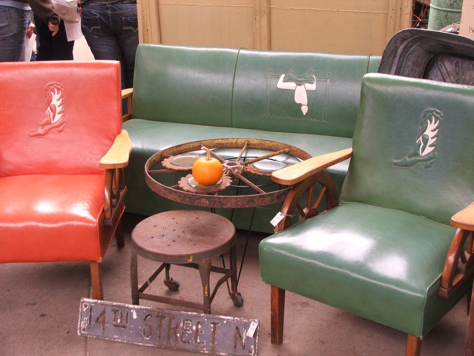 Cowboy Furniture, Vintage 1950u0027s?