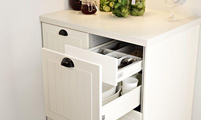 Ikea Keuken Onderkast : Metod fÖrvara onderkast fronten m lades wit kroktorp ecru