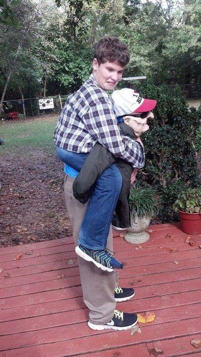 23d9ef242ec3 creepy old man piggy back ride halloween costume