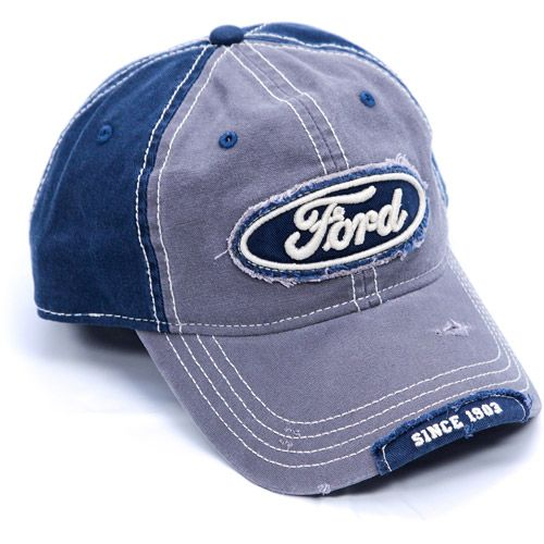 f753a157a71 Ford cap with distressed visor and front panel patch