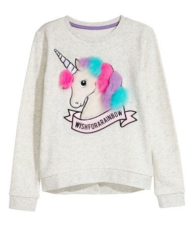 schönen Glanz Stufen von marktfähig Sweatshirt with Motif | Light gray melange/unicorn | KIDS ...