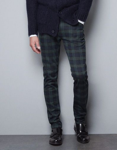79a0d35a80eb5f CHECKED TROUSERS - ZARA | Dapper Me | Tartan pants mens, Mens plaid ...