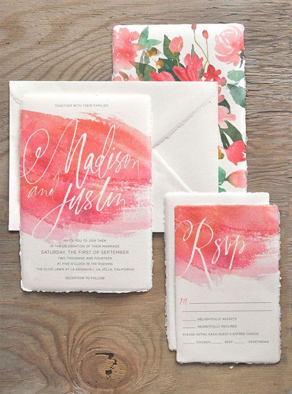Wedding Invitations Watercolour Brides Of Adelaide Magazine