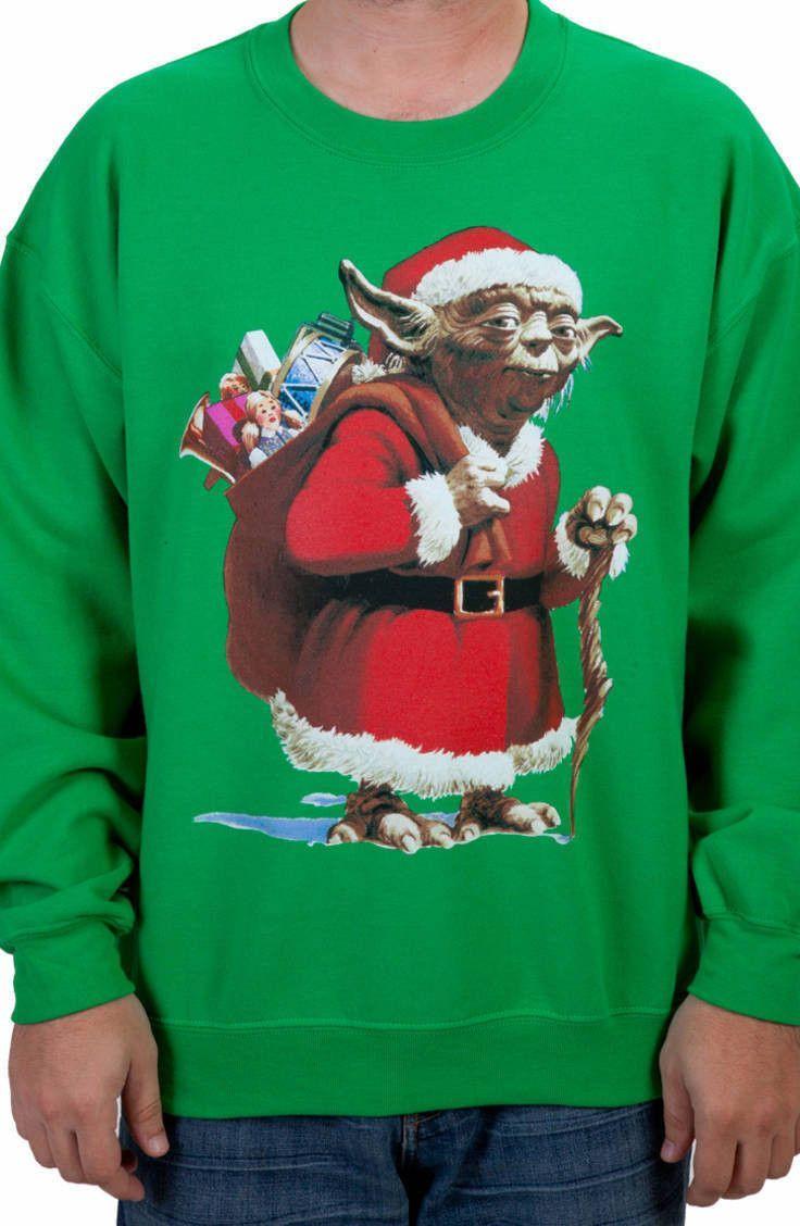 c17a16c461ae Yoda Santa Claus Ugly Faux Christmas Sweater
