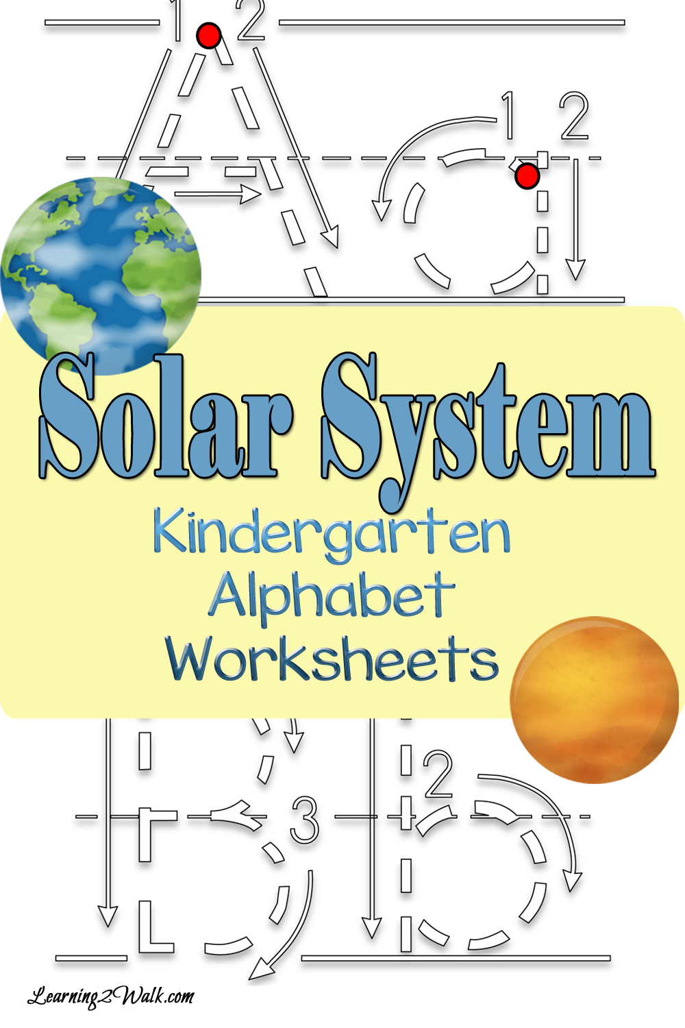 Coloring pages solar system letters - Does The Solar System And Alphabet Worksheets Go Together Of Course They Do Here