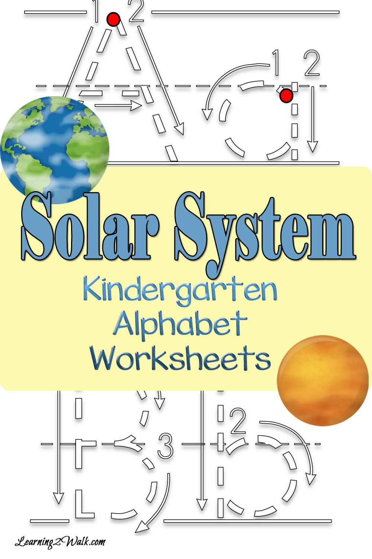 Solar System Kindergarten Alphabet Worksheets | Kind