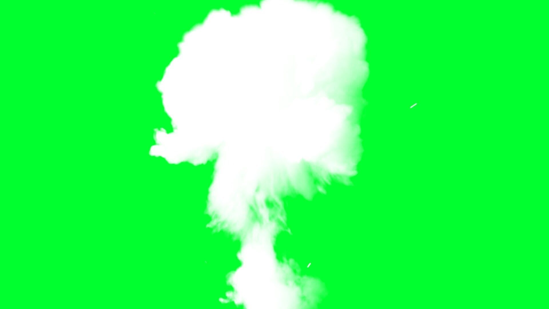 Smoke Explosion Smoke Cloud Green Screen Effects Greenscreen