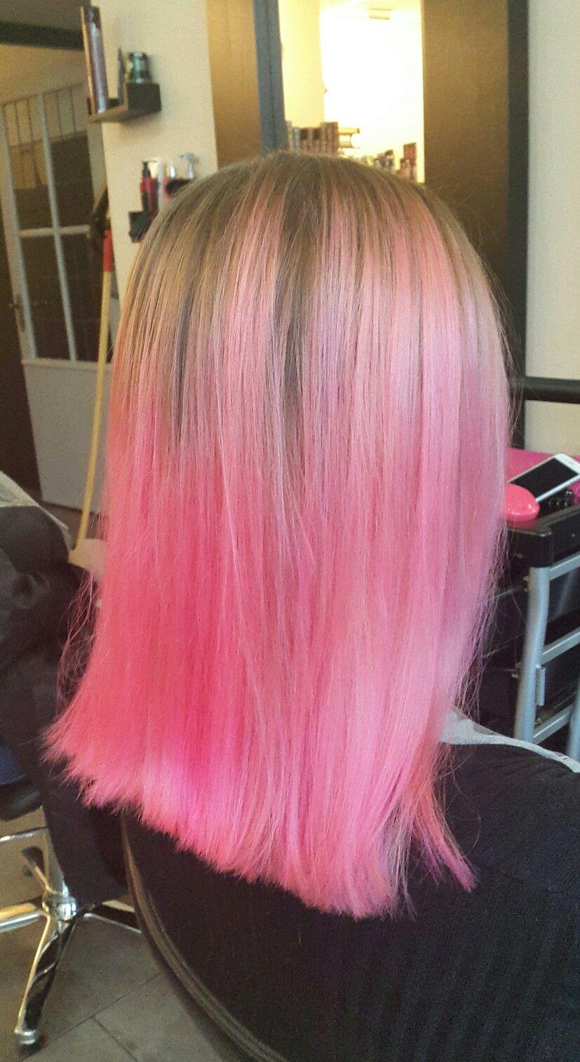 Carnation pink (Directions hairdye) + Matrix BondUltim8 #flamingopink #pinkhair #pinkhairdontcare #salon #hairsalon #hairdresser #hairstylist #trend #hairdye #hairdo #blowdry #hairstyling #beautifulhair #gorgeoushair #lovelyhair #greathair #haironpoint #hairinspiration #hairinspo #coloredhair #dyedhair #hairtrend #crazycolor #directionshair #hairgoals #haircrush #colorfulhair #directionshairdye #matrixhair #bondultim8