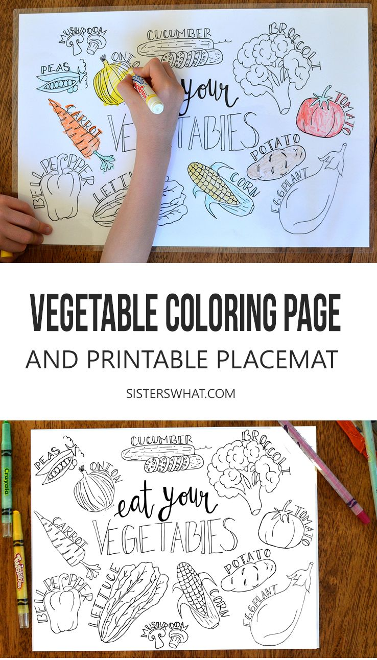 Free Vegetable Printable Coloring