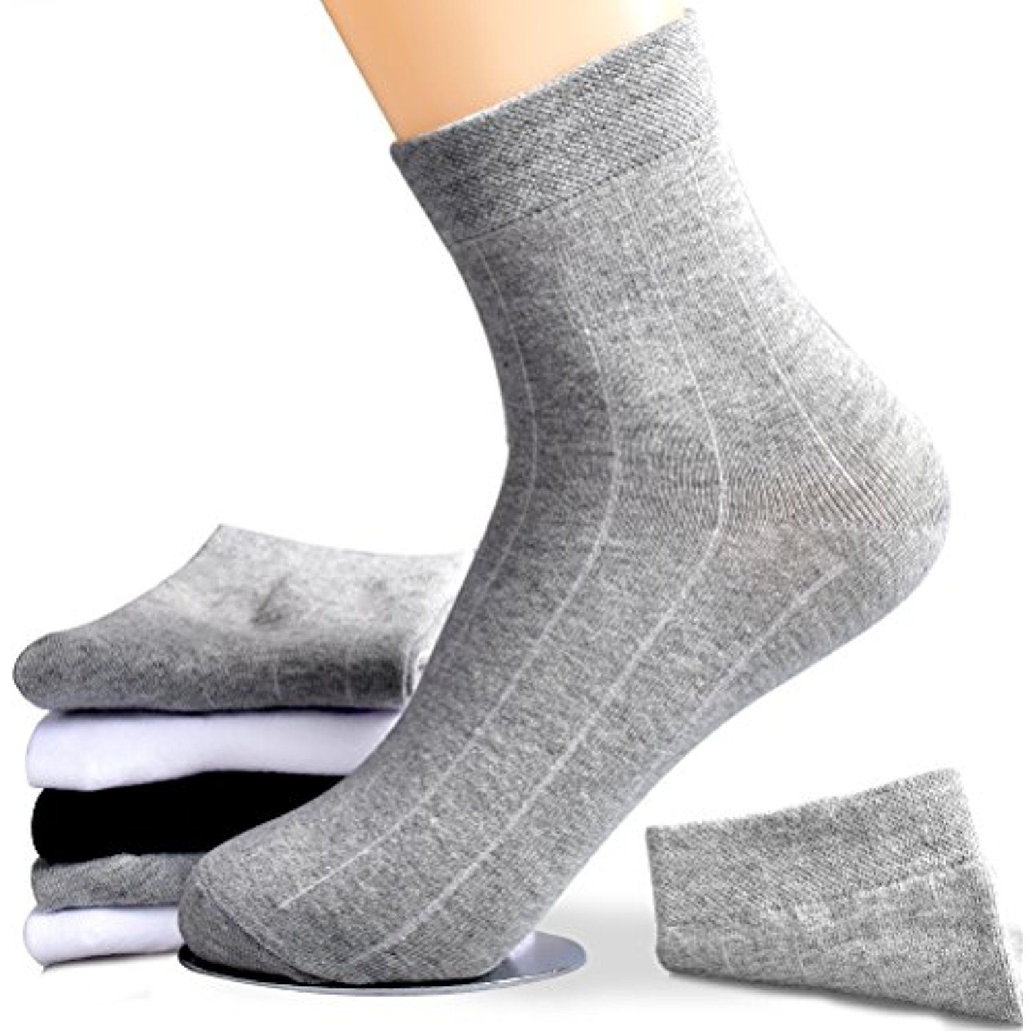 Ankle Socks Mens No Show Crew Socks for Athletic and Casual Use