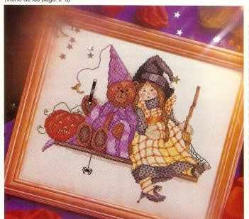Halloween Witch and Bear