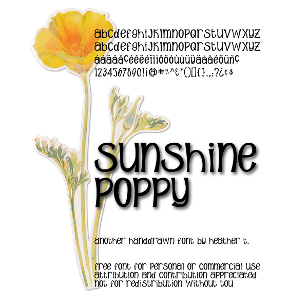 Sunshine Poppy Font free for commercial use