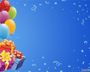 Urari De La Multi Ani >> Free Birthday PowerPoint Template with balloons and blue background | Seasonal PowerPoint ...