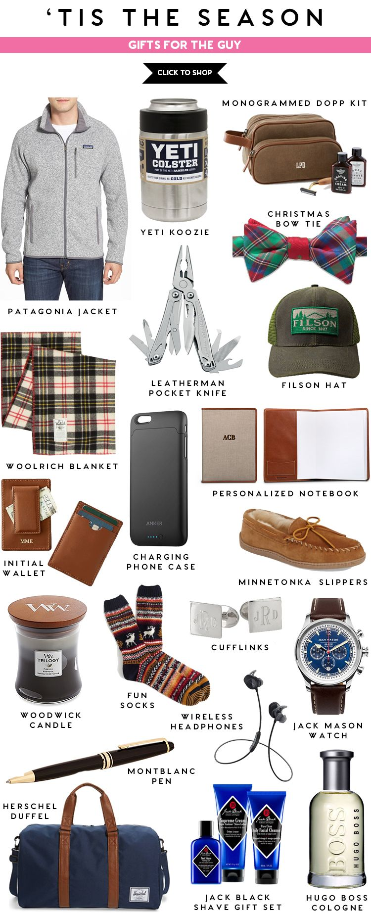 Tis The Season Gifts For The Guy Anniversary Gifts For Him