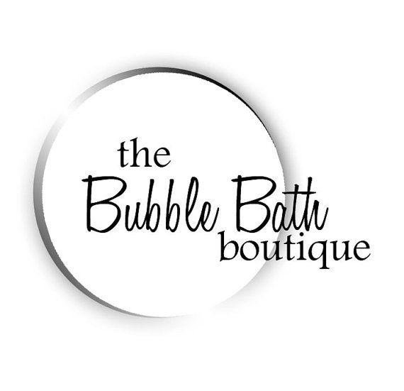 A Bubble Bath Logo A Pre Made Logo For Scented And Handmade Etsy Lounge Logo Premade Logo Bubbles